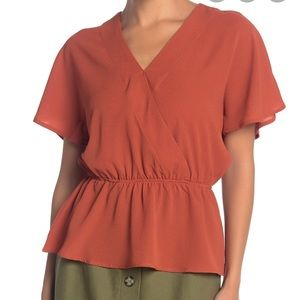 Never worn, tags attached V Neck, Peplum blouse